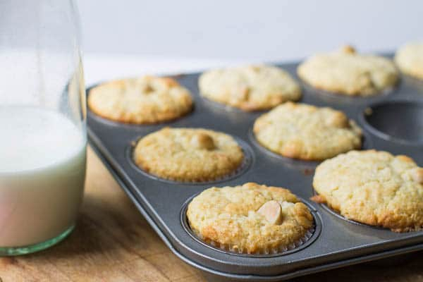 White Chocolate Macadamia Muffins