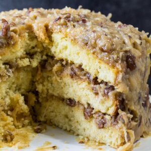 White German Chocolate Cake
