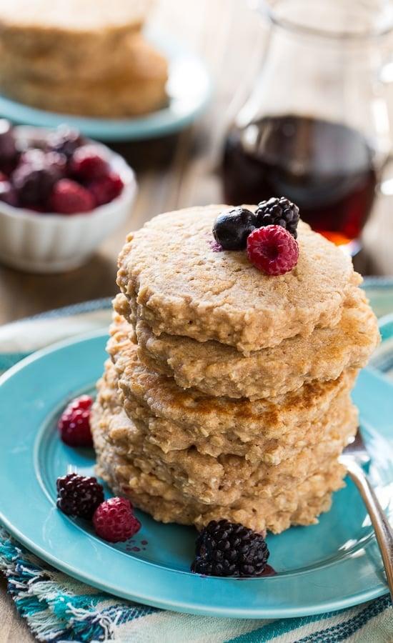 Super Healthy Whole Wheat Pancakes