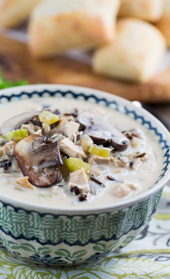Chicken and Wild Rice Soup - super thick and hearty!