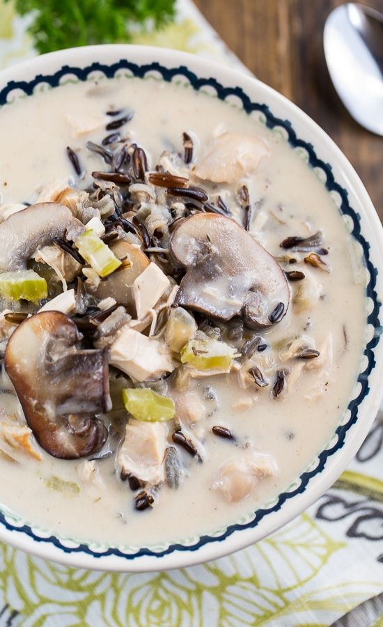 Chicken and Wild Rice Soup - thick and hearty!