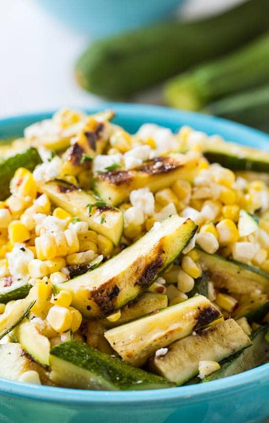 Grilled Zucchini-Corn SaladSpicy Southern Kitchen
