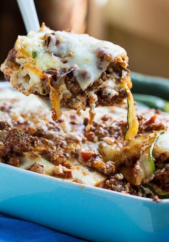 Zucchini Lasagna - a thick meat sauce and zucchini noodles make this a ...