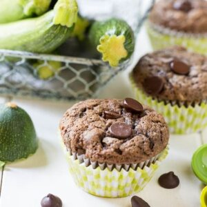 Dark Chocolate Zucchini Muffins