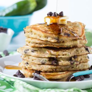 Chocolate Chip Zucchini Bread Pancakes